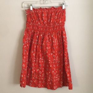 Free people strapless dress or beach cover up.